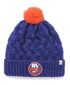 New York Islanders Women's 47 Brand Blue Fiona Cuff Knit Hat