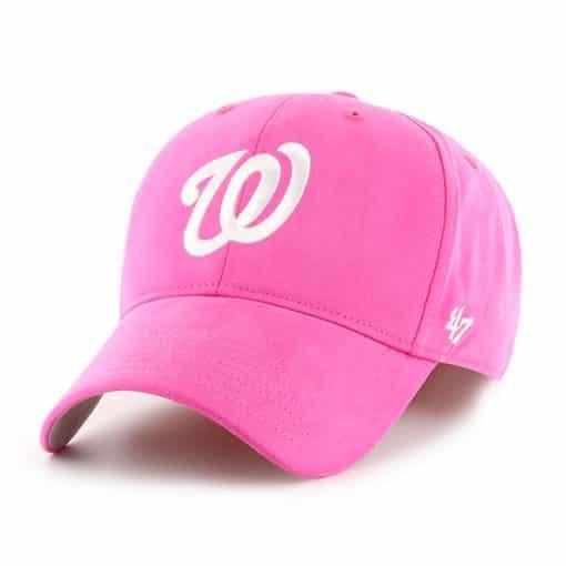 Washington Nationals YOUTH Girls 47 Brand Pink Adjustable Hat