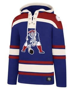 New England Patriots Men's 47 Brand Classic Blue Pullover Jersey Hoodie