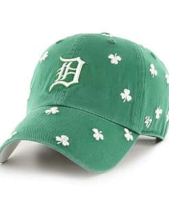 Detroit Tigers 47 Brand Green St Patty's Clean Up Adjustable Hat