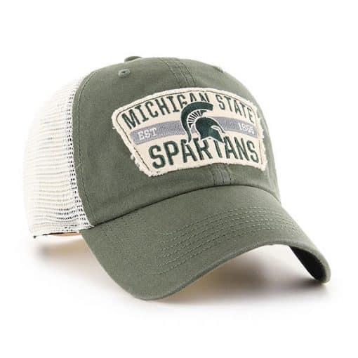 Michigan State Spartans 47 Brand Vintage Green Crawford Mesh Adjustable Hat