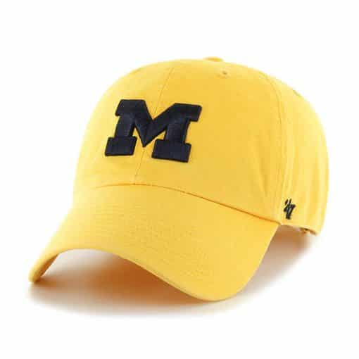 Michigan Wolverines 47 Brand Yellow Clean Up Adjustable Hat