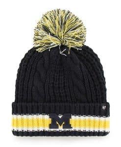 Michigan Wolverines Women's 47 Brand Navy Sorority Cuff Knit Hat