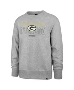 Green Bay Packers Men's 47 Brand Gray Crew Long Sleeve Pullover
