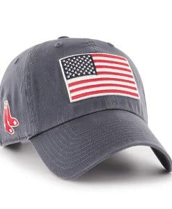 Boston Red Sox 47 Brand USA Flag Vintage Navy Clean Up Adjustable Hat