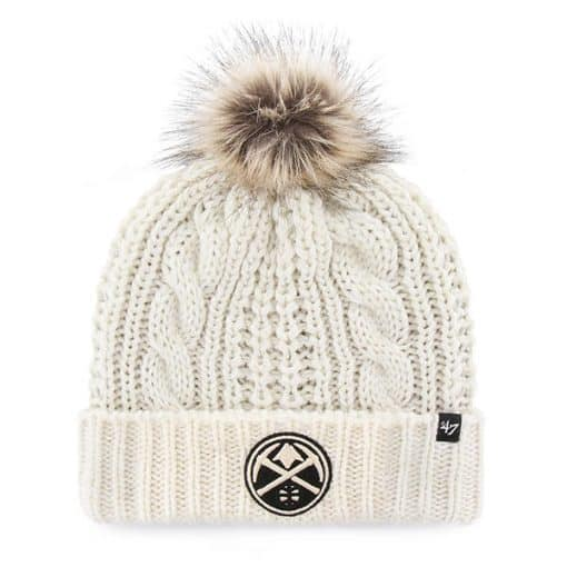 Denver Nuggets Women's 47 Brand White Cream Meeko Cuff Knit Hat