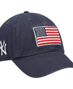 New York Yankees 47 Brand USA Flag Vintage Navy Clean Up Adjustable Hat