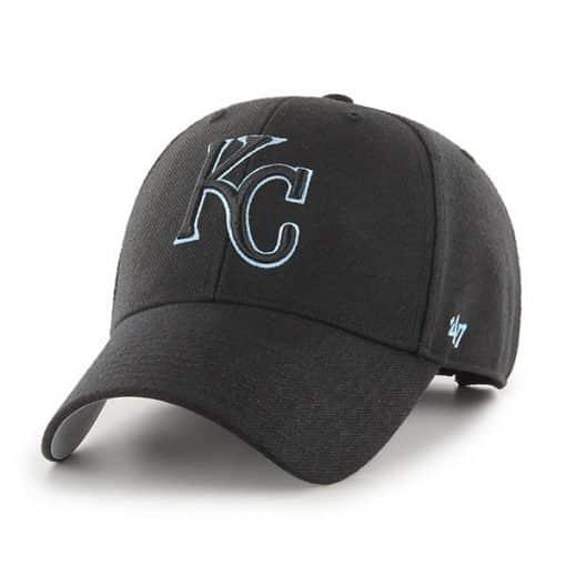 Kansas City Royals 47 Brand Columbia Black MVP Adjustable Hat