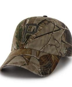 Pittsburgh Pirates 47 Brand Realtree Camo Clean Up Adjustable Hat
