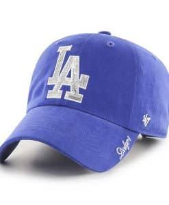Los Angeles Dodgers Women's 47 Brand Sparkle Blue Clean Up Adjustable Hat