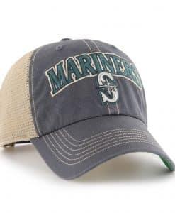 Seattle Mariners 47 Brand Tuscaloosa Vintage Navy Clean Up Mesh Snapback Hat