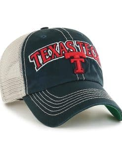 Texas Tech Red Raiders 47 Brand Tuscaloosa Vintage Black Clean Up Snapback Hat