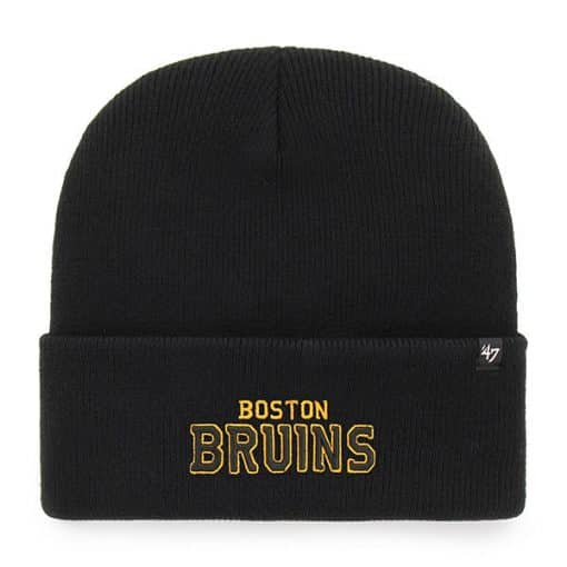 Boston Bruins 47 Brand Black Cuff Knit Hat