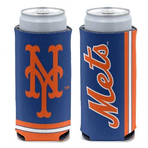 New York Mets 12 oz Blue Slim Can Koozie Holder