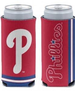 Philadelphia Phillies 12 oz Red Slim Can Koozie Holder