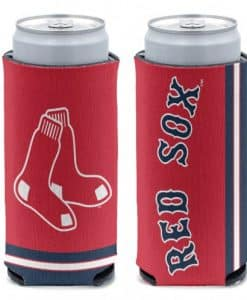 Boston Red Sox 12 oz Red Slim Can Koozie Holder