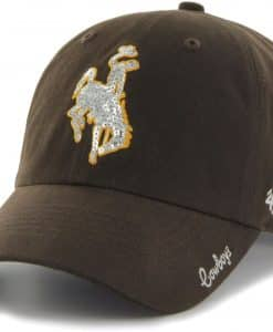 Wyoming Cowboys Women's 47 Brand Sparkle Brown Clean Up Adjustable Hat