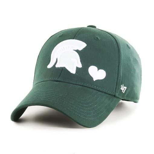 Michigan State Spartans KIDS 47 Brand Dark Green MVP Adjustable Hat