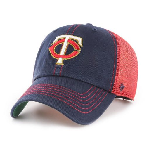 Minnesota Twins 47 Brand Trawler Navy Red Clean Up Mesh Snapback Hat
