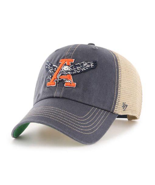 Auburn Tigers 47 Brand Trawler Vintage Navy Clean Up Mesh Snapback Hat
