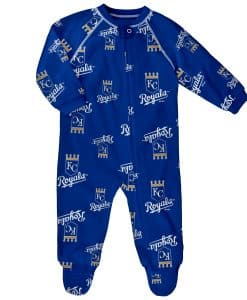 Kansas City Royals Baby Blue Raglan Zip Up Sleeper Coverall