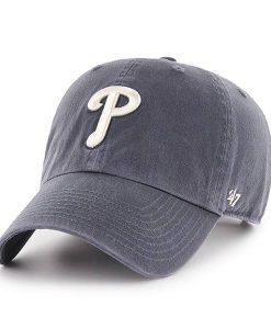 MLB Vintage Navy 47 Brand Clean Up Hats