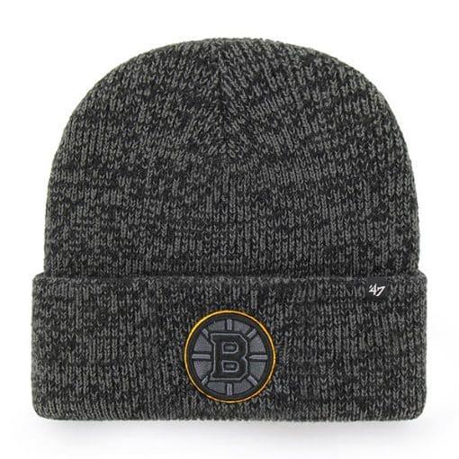 Boston Bruins 47 Brand Black Brain Freeze Cuff Knit Hat