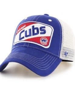 Chicago Cubs KIDS 47 Brand Blue Woodlawn MVP Adjustable Hat