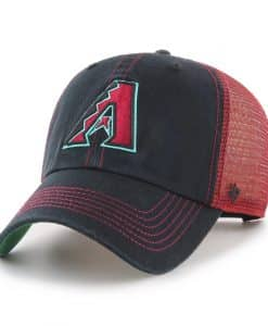 Arizona Diamondbacks 47 Brand Trawler Black Clean Up Mesh Snapback Hat