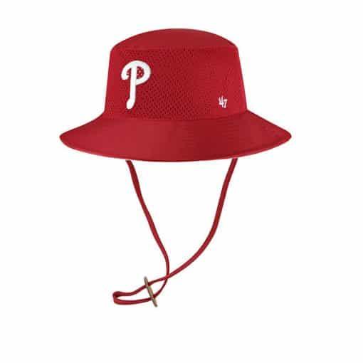 Philadelphia Phillies 47 Brand Red Panama Bucket Hat