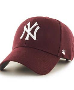 New York Yankees 47 Brand Dark Maroon MVP Adjustable Hat