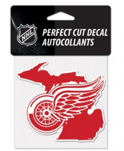 """Detroit Red Wings State Perfect Cut Decal 4"""" x 4"""""""