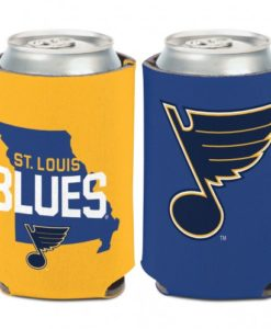 St Louis Blues 12 oz Blue Yellow Missouri Can Koozie Holder