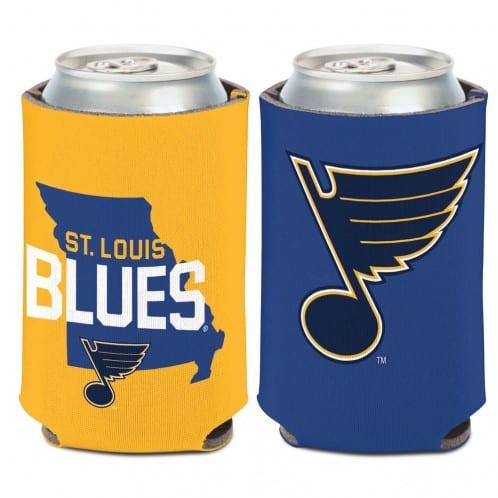 St Louis Blues 12 oz Blue Yellow Missouri Can Koozie Holder