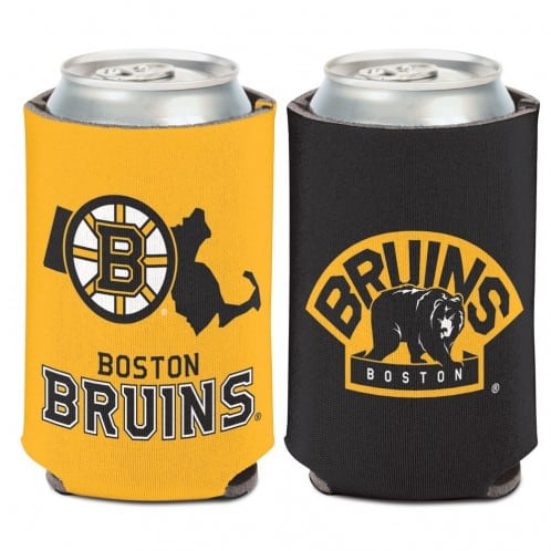 Boston Bruins 12 oz Black Yellow Massachusetts Can Koozie Holder