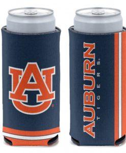 Auburn Tigers 12 oz Navy Orange Slim Can Koozie Holder