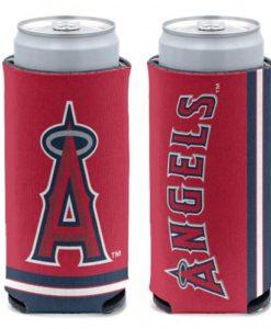 Los Angeles Angels 12 oz Red Slim Can Koozie Holder