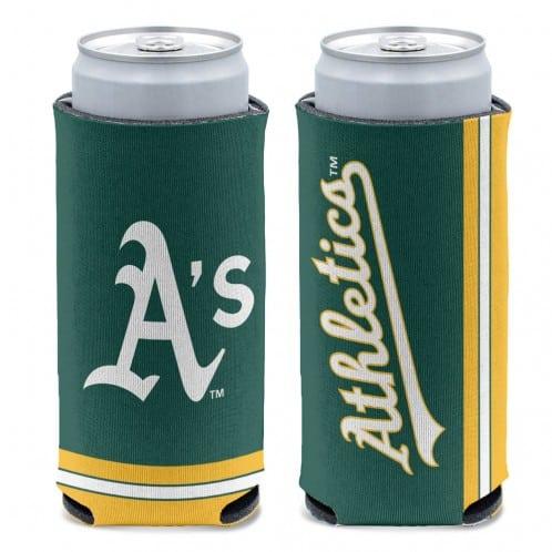 Oakland Athletics 12 oz Green Slim Can Koozie Holder