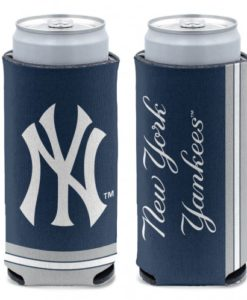 New York Yankees 12 oz Navy Slim Can Koozie Holder