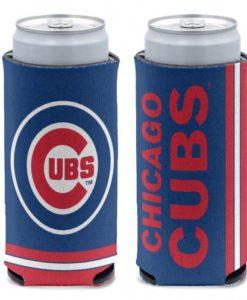 Chicago Cubs 12 oz Blue Slim Can Koozie Holder