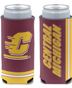 Central Michigan Chippewas 12 oz Maroon Slim Can Koozie Holder