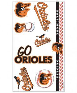 Baltimore Orioles Temporary Tattoos