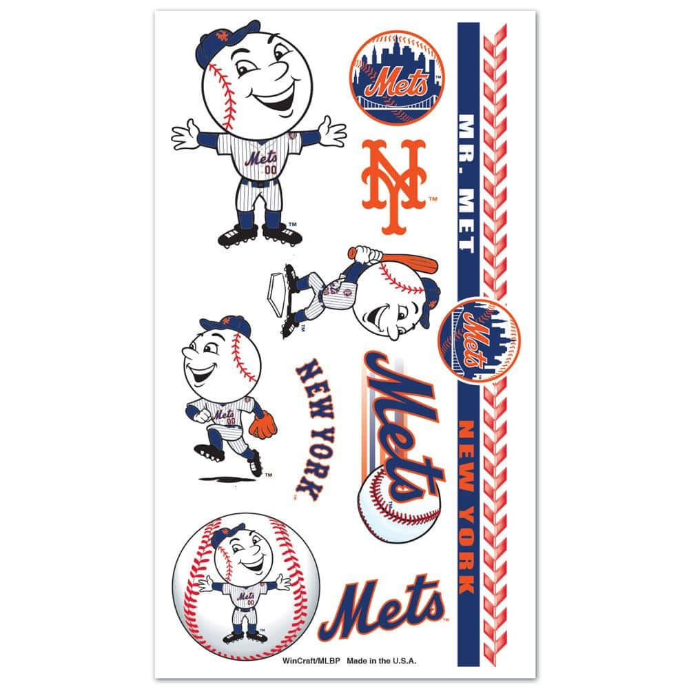 New York Mets Temporary Tattoos