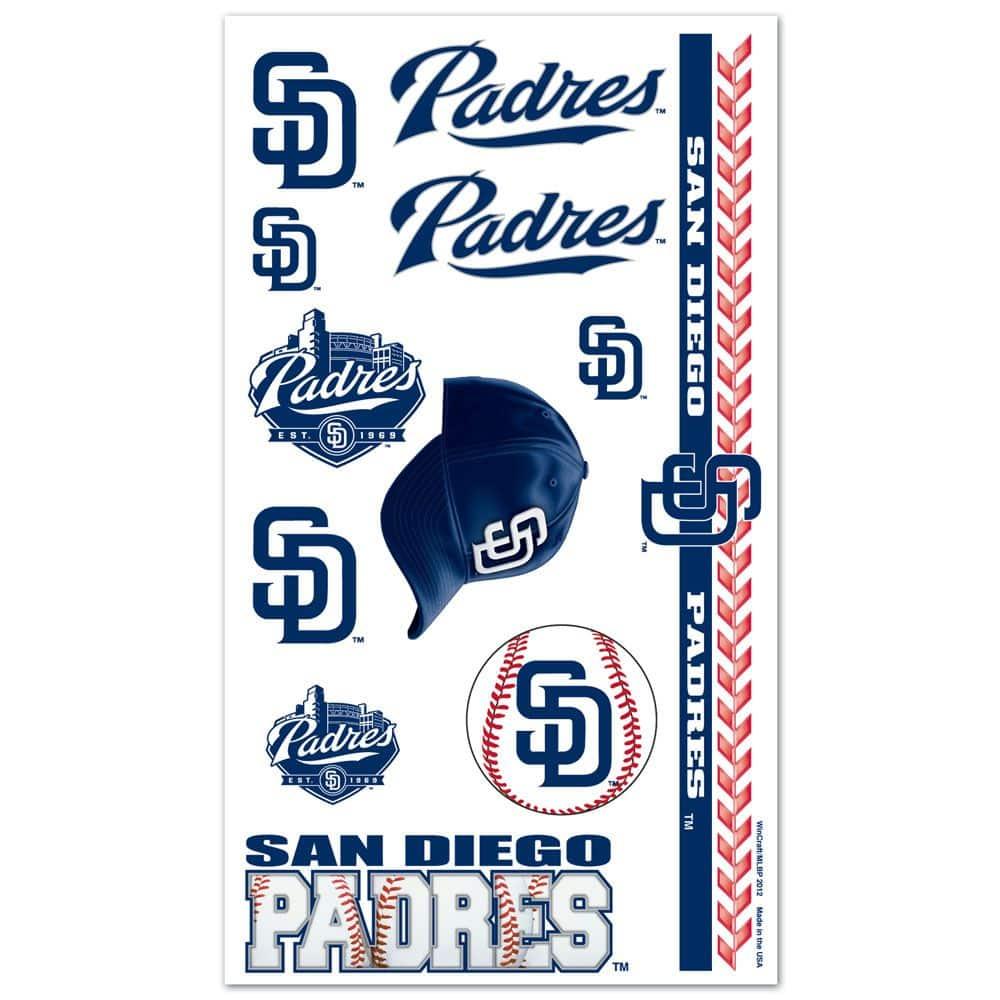 San Diego Padres Temporary Tattoos