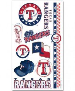 Texas Rangers Temporary Tattoos