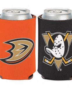 Anaheim Ducks 12 oz Black Orange Can Koozie Holder