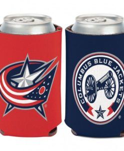 Columbus Blue Jackets 12 oz Blue Red Can Koozie Holder