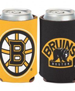 Boston Bruins 12 oz Yellow Black Can Koozie Holder