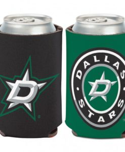 Dallas Stars 12 oz Black Green Can Koozie Holder
