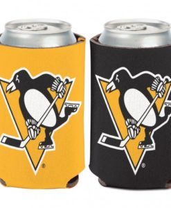 Pittsburgh Penguins 12 oz Yellow Black Can Koozie Holder